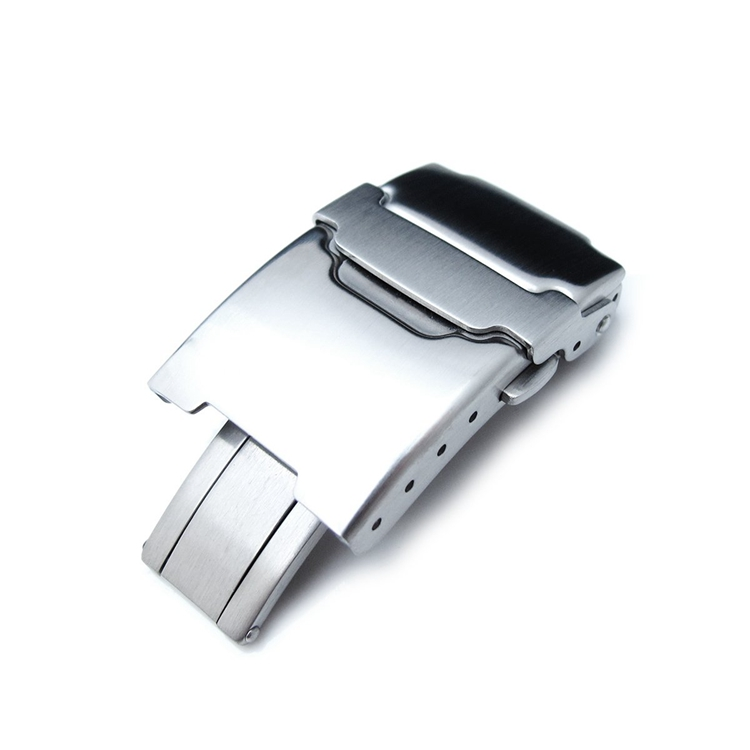 20mm Brushed buckle Stainless Steel Push Button Diver Clasp for Watch Band