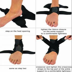 Foot Bandage Elastic Ankle Brace Black Band AS-02