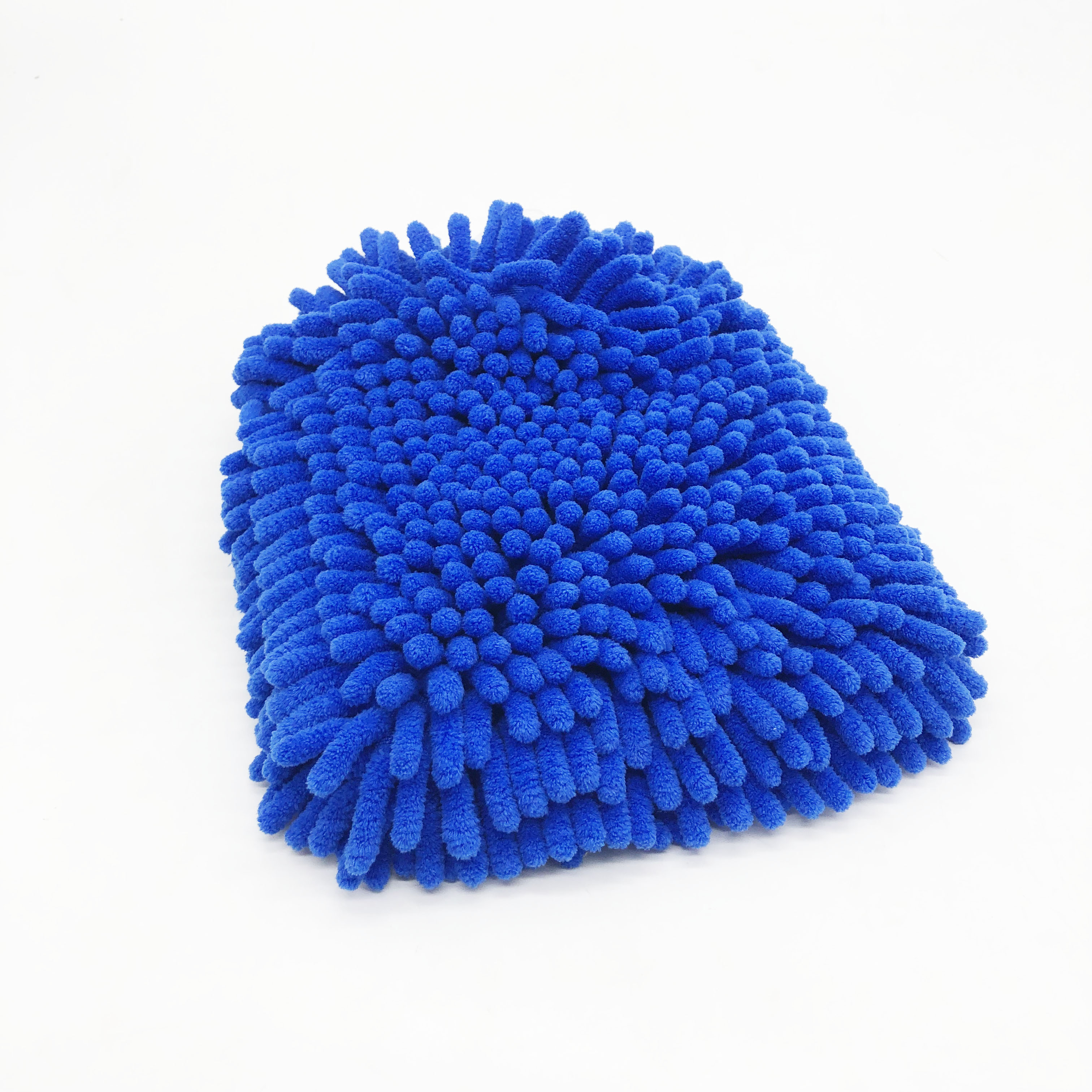 Absorbent Microfiber Material Washing Mitt Scratch-free Blue Wash Gloves for Car Cleaning