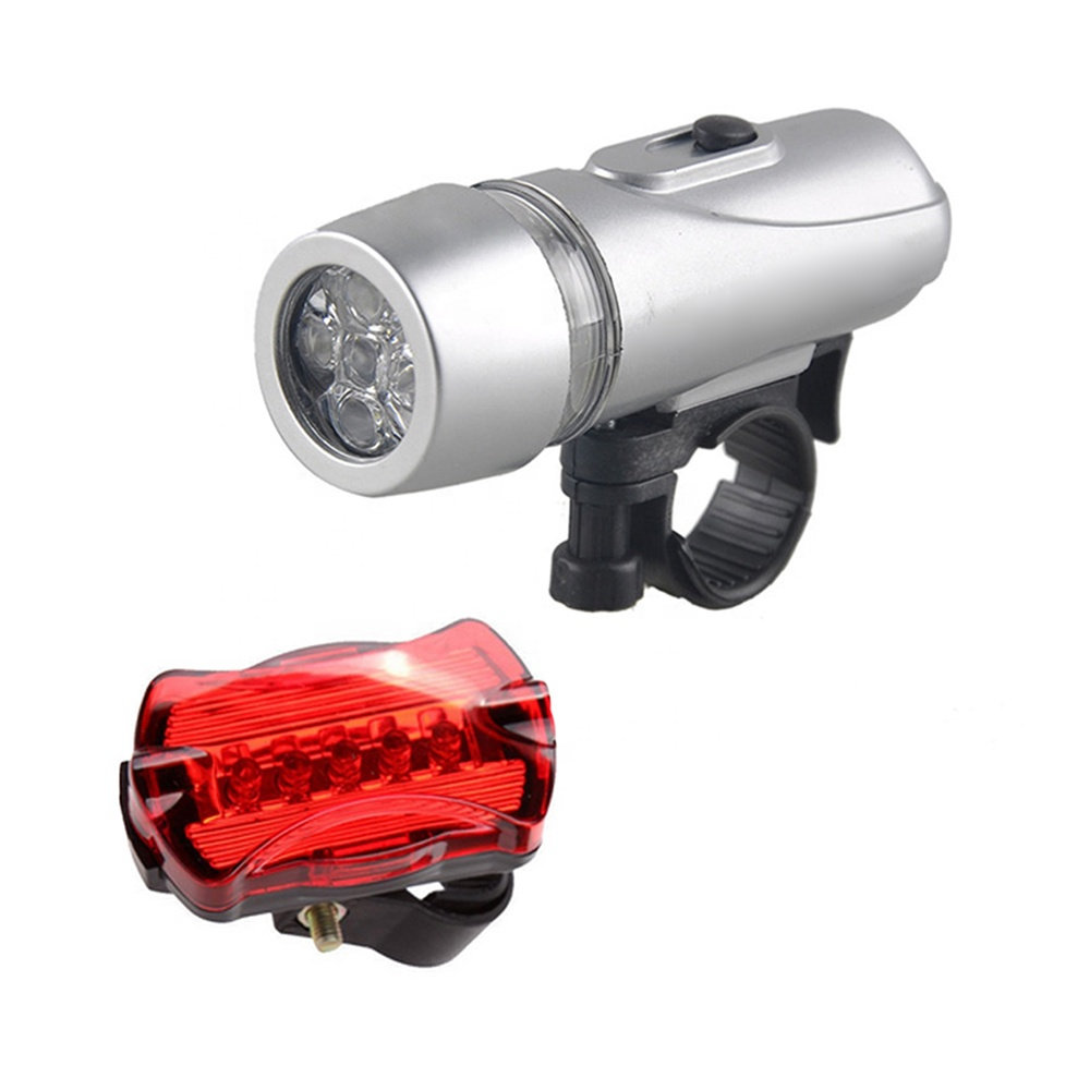 cycle headlight 5 LED Mountain Cycling Head Light Bicycle Rear Bike light led bike lights front and back
