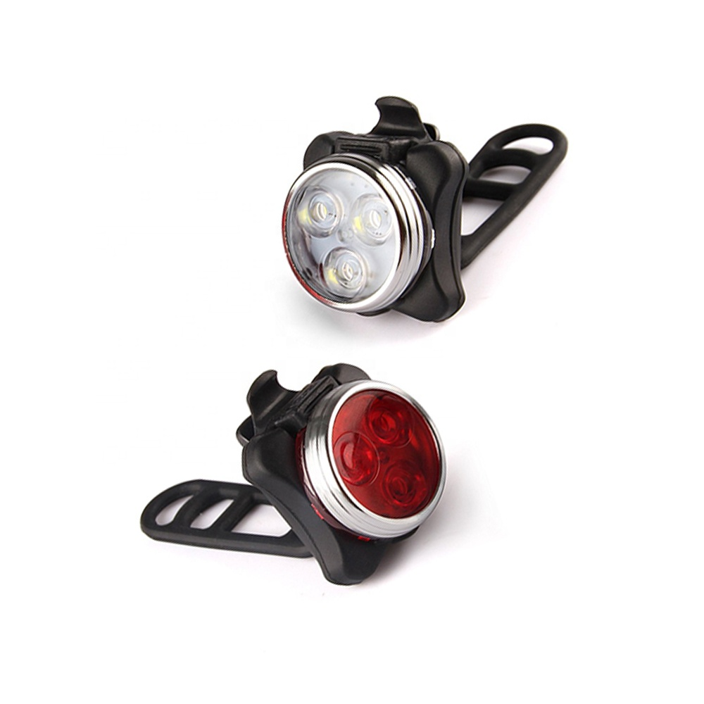 Mount Bicycle Accessories Built-in Battery Rechargeable 4 Modes Bicycle Light Rechargeable Front Headlight Back Bike tail Light