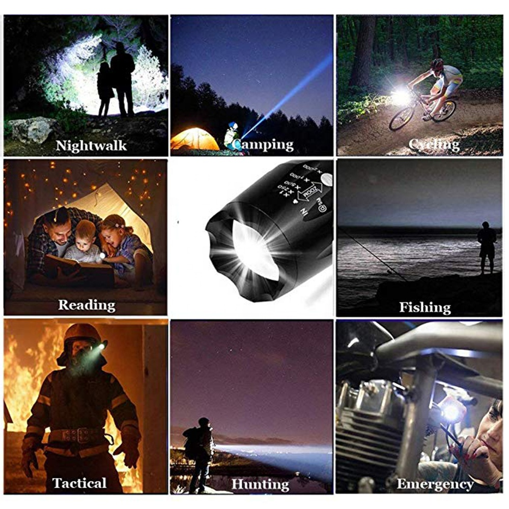 395nm Bed Detector Dual Usage Torch Zoom LED UV Flashlight H8-UV
