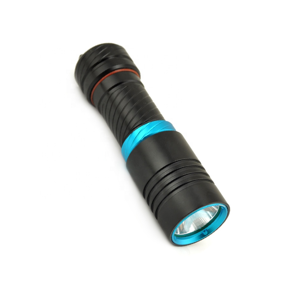 50m Underwater linterna de buceo Stepless dimming Diving Torch XM-L T6 LED scuba Torch 1200 Lumen Diving underwater flashlight