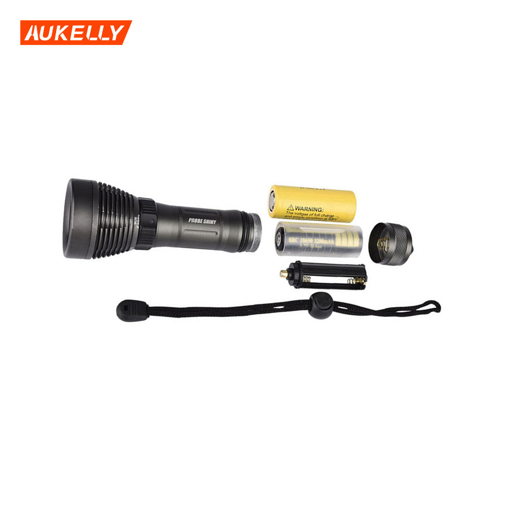 Wholesale price plastic professional diving 50M underwater flashlight