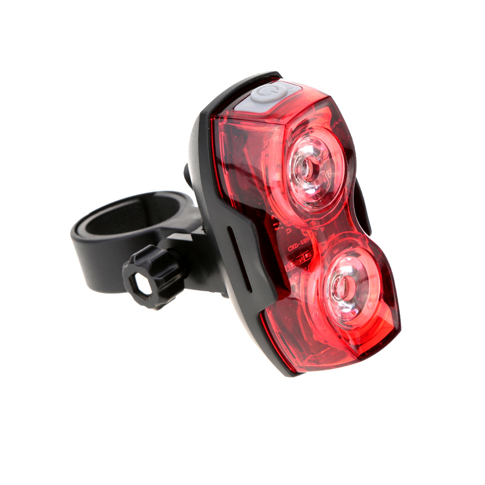 MTB Bike Accessories Cycling Night Super Bright Red 2 LED Bicycle Rear Light emergency waterproof Safety Warning Bike Tail light