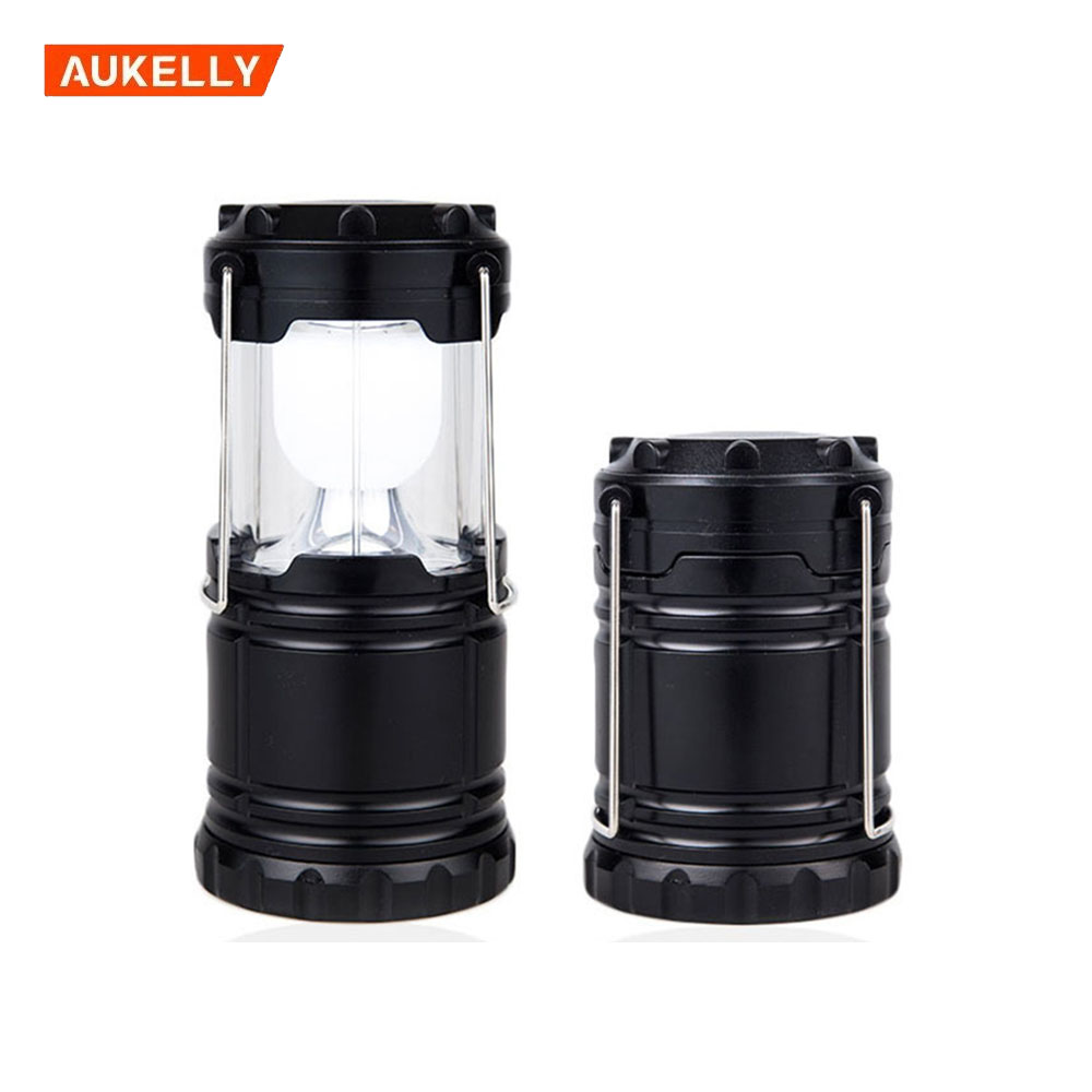 Christmas gift Outdoor camping lantern flashlights collapsible solar lanterns rechargeable led camp lights lamp