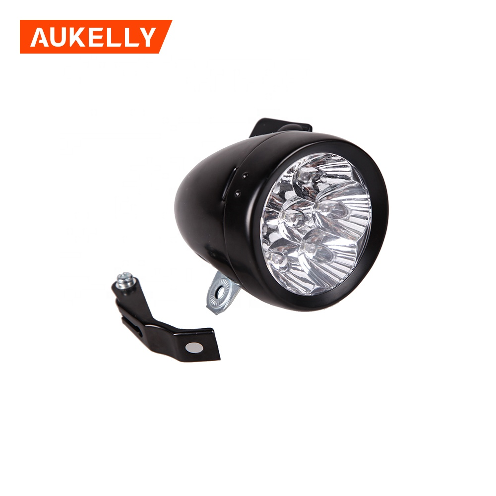 7 Led Bicycle Headlight Bike Front Light Retro ...