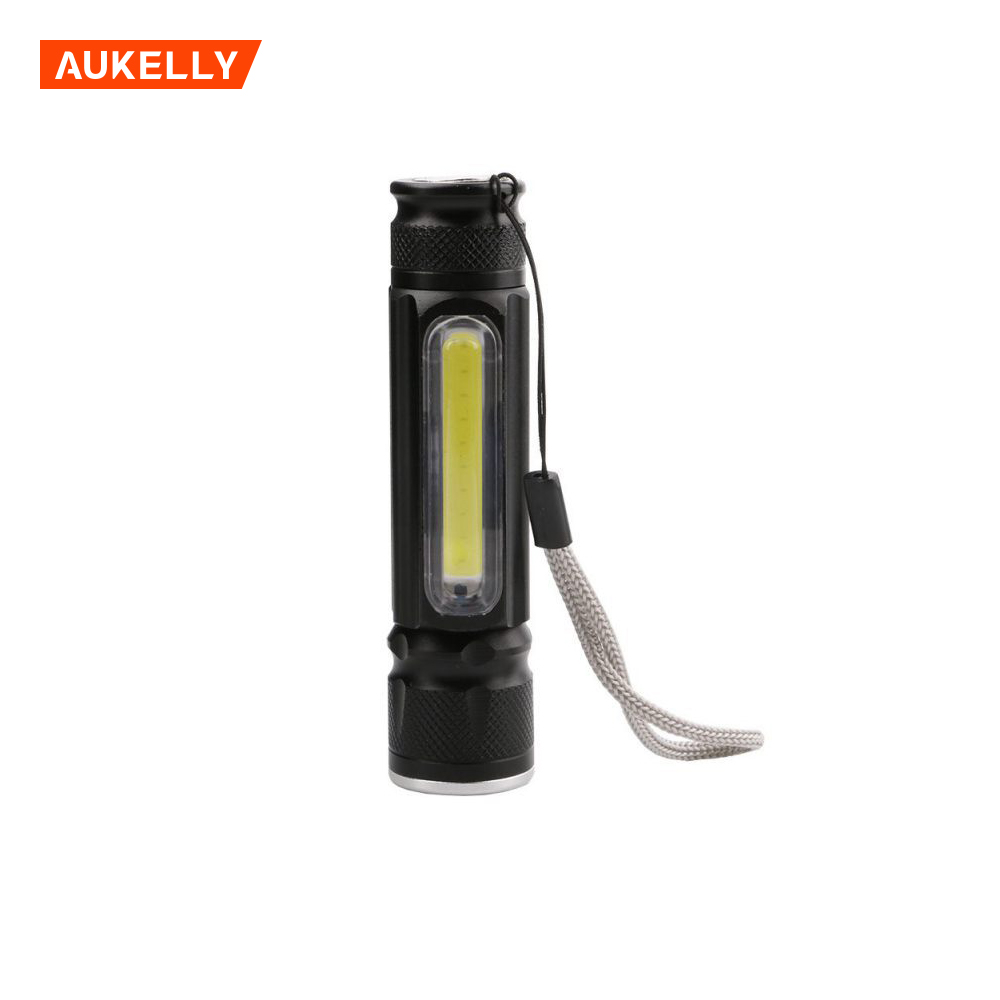 USB charging telescopic focusing COB work light waterproof LED T6 glare flashlight