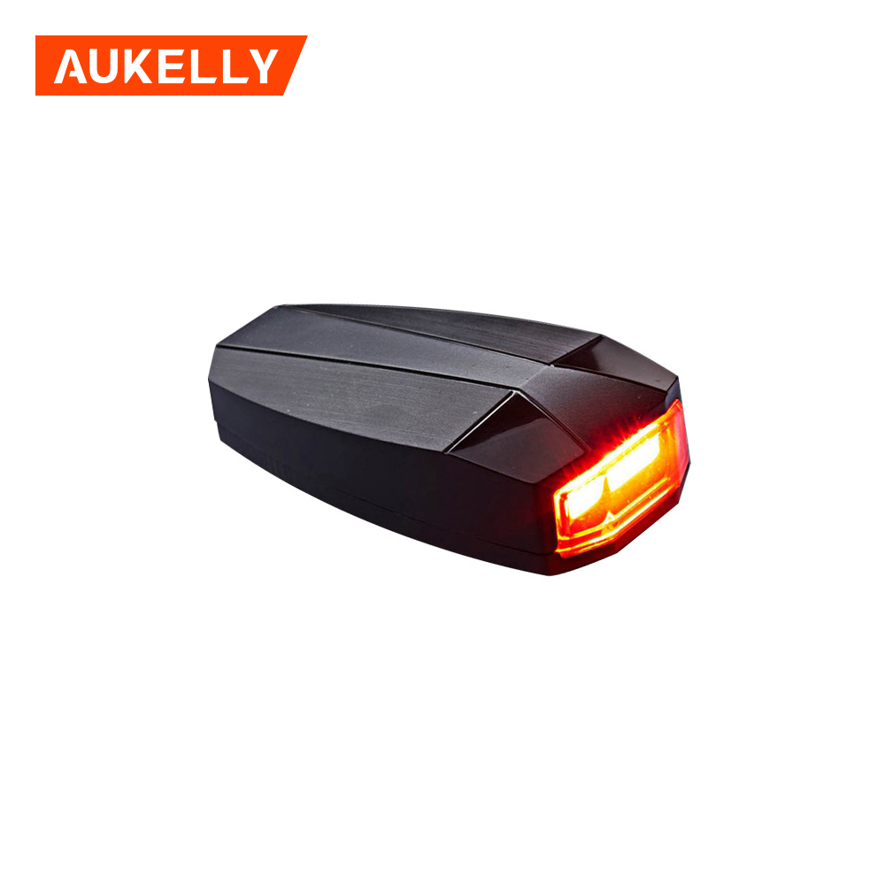 Anti-theft Alarm USB Charge LED Tail Lamp Bike Finder Lantern Horn Siren Warning Wireless Remote Control Bike Light