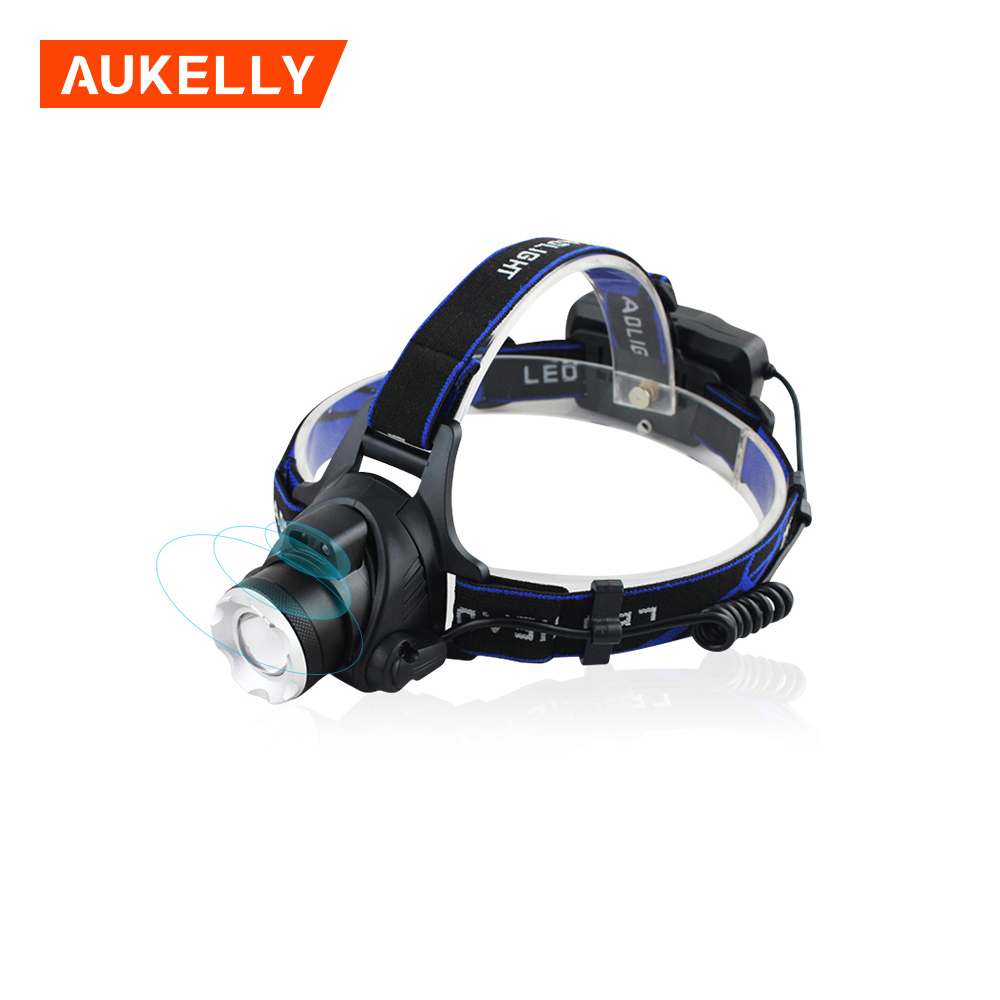Aukelly 1500 Lumens Head Torch Ir sensor head lamp sensor headlight usb clip sensor headlamp