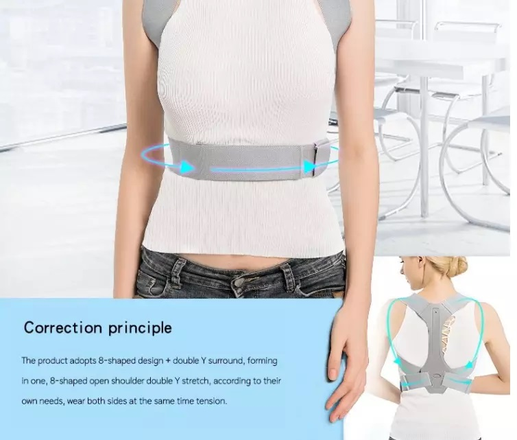 Adjustable Back Corrector Belt Magnetic Back Shoulder Support Posture Corrector Braces Magnet Back Posture Support