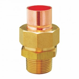 Removable NPT Male Outer Hex Thread Socket Pipe Brass Fitting Male to Copper Connector