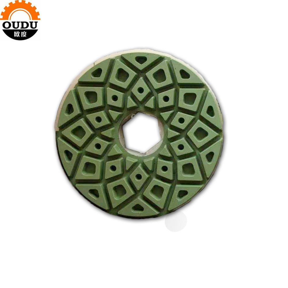 diamond round granite abrasive stone hand  polishing pads