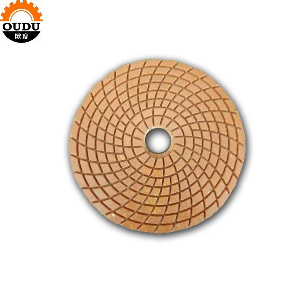 Granite abrasive tool wet polishing pad