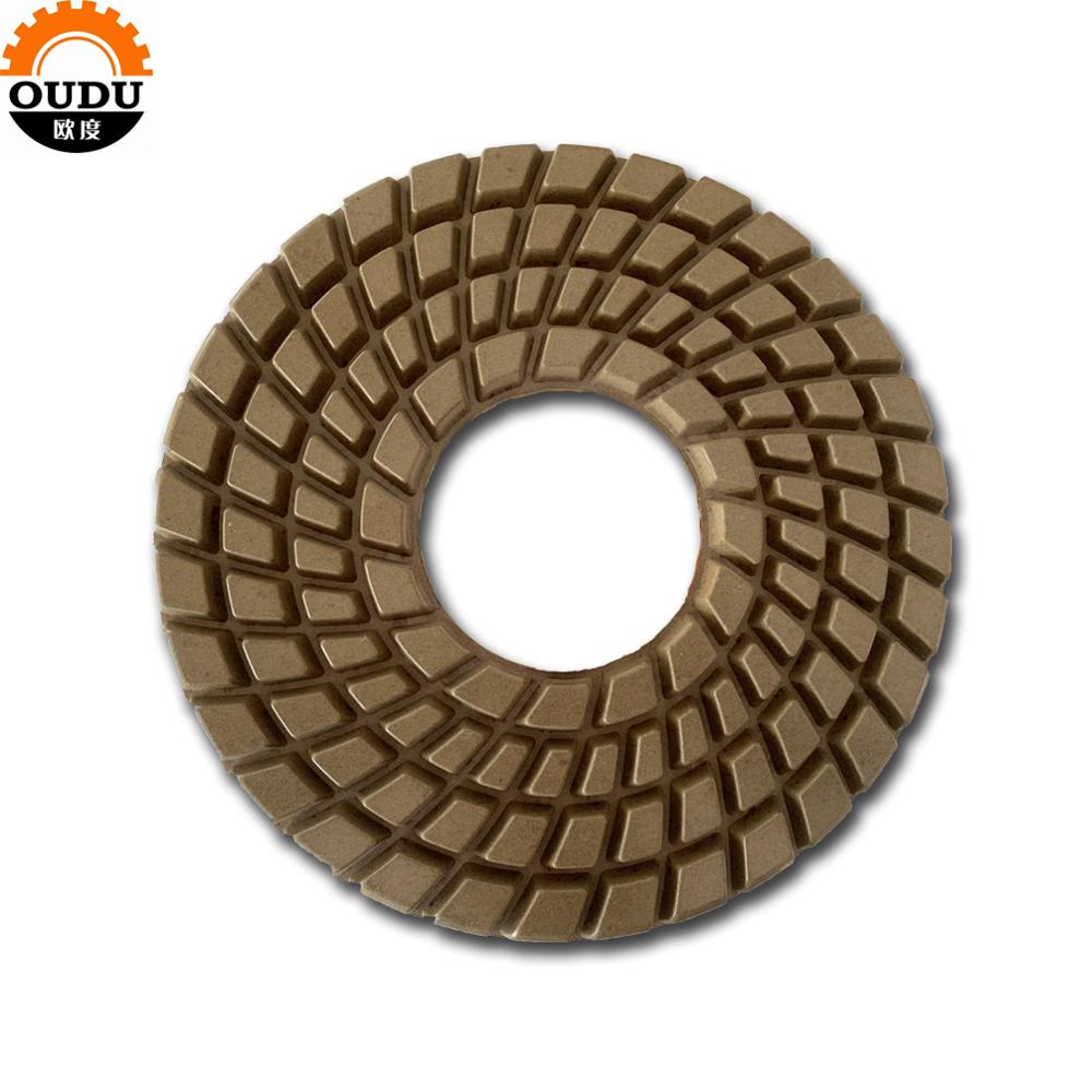 Big size 10 inch diameter 250mm diamond factory machine polishing pad