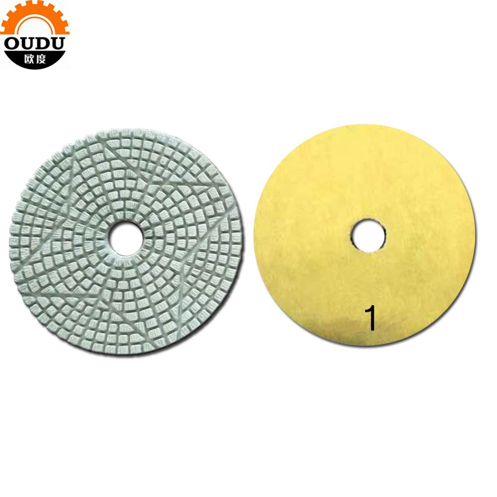3 steps flexible polishing wet pad for stone