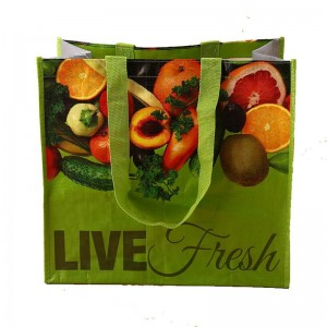 Quality PP Woven Tote Bag Full Color Laminated Market Grocery Bag