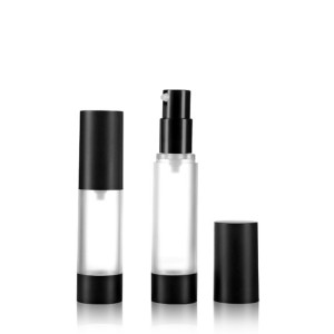 Single wall skin care airless lotion pump cosmetic bottle