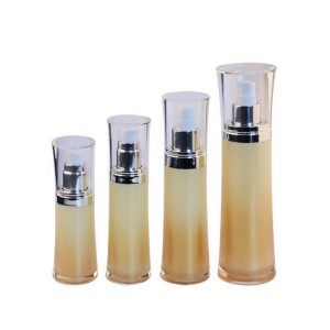 Double Wall Fancy Cosmetic Plastic Acrylic Lotion Pump Bottles