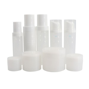 Recycled PCR Cream Jar and PCR Lotion Pump Bottle for Cosmetics Packaging