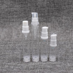 Mini Portable Clear Airless Bottle with Lotion & Spray Pump
