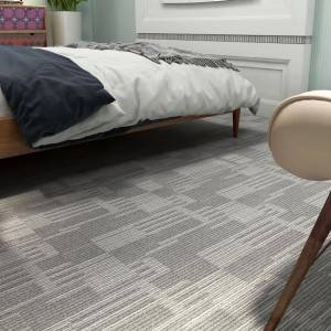 Carpet-plus Luxury Vinyl Tile with Rigid Core