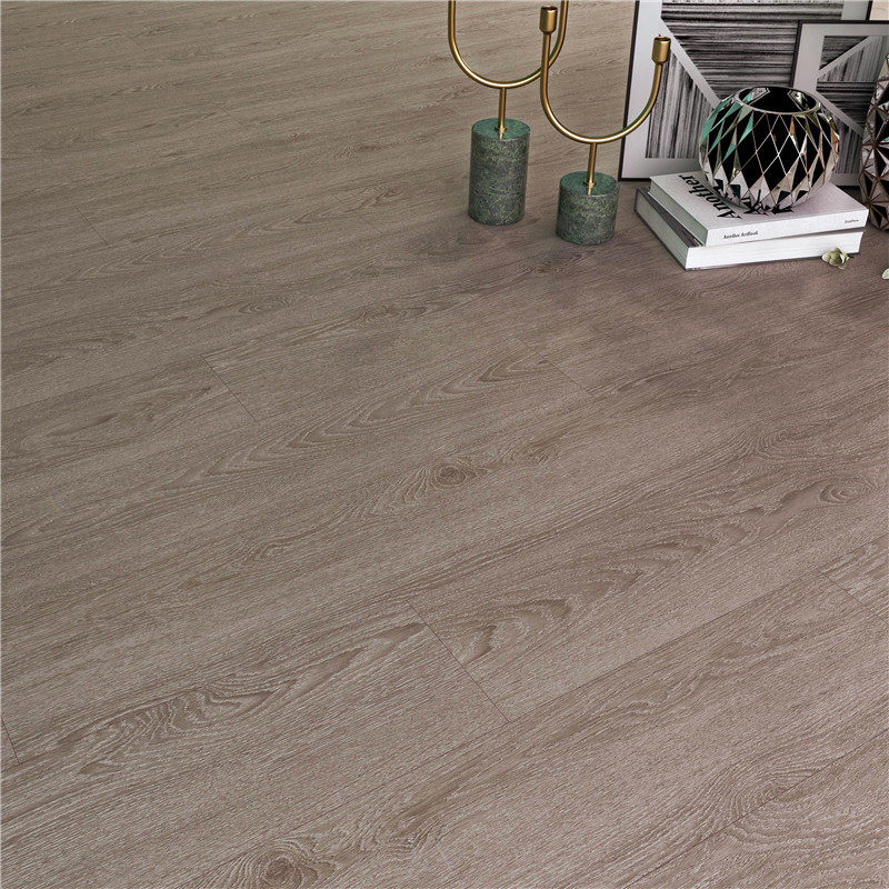 Formaldehyde Free Gray Oak SPC Flooring