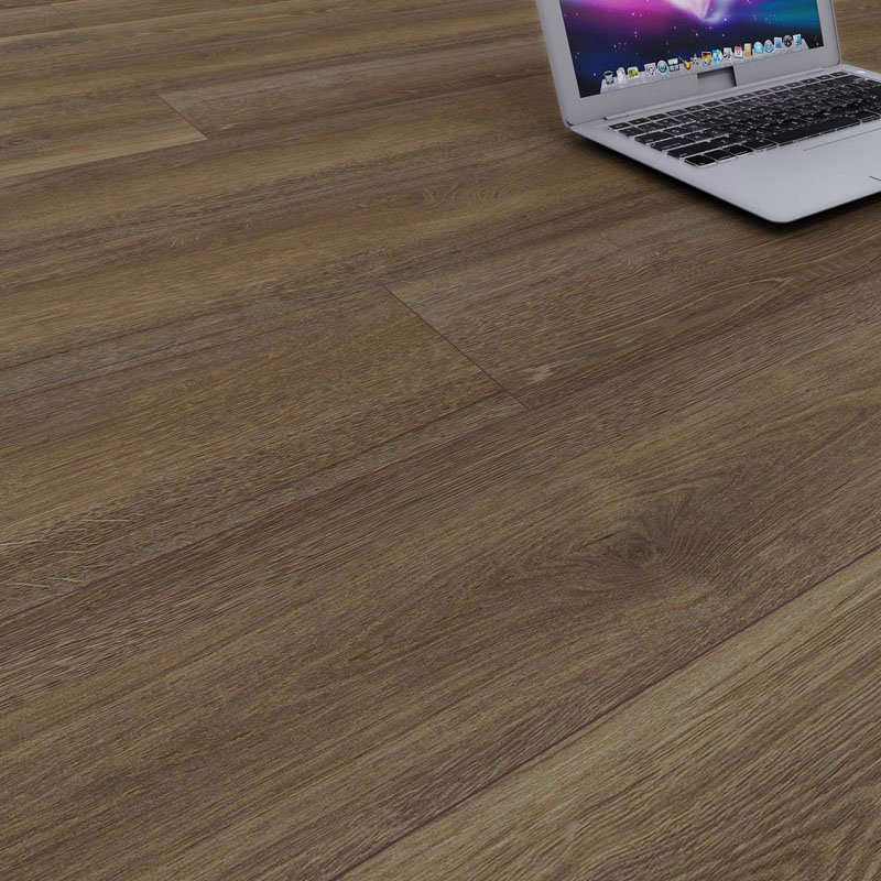 Brown Oak SPC Flooring ki IXPE Pad
