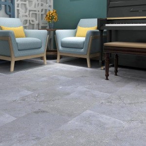 SPC rigid core vinyl tile with cement slab effect