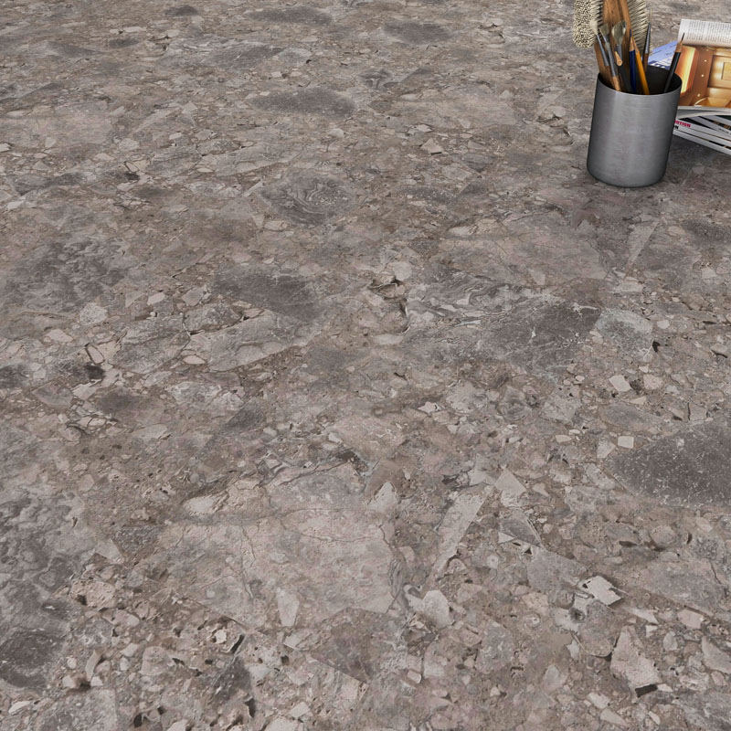 High Quality Brown Marble Pattern SPC Vinyl Flooring