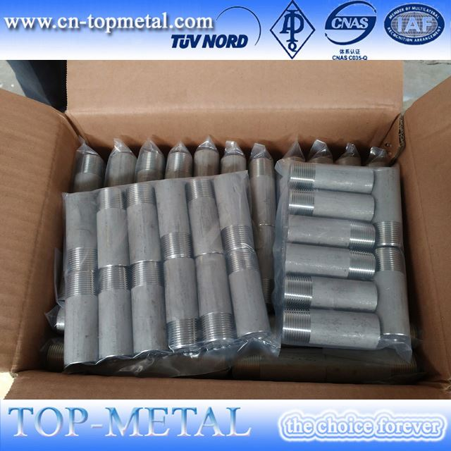 1/2 threaded stainless steel nipples las thread npt