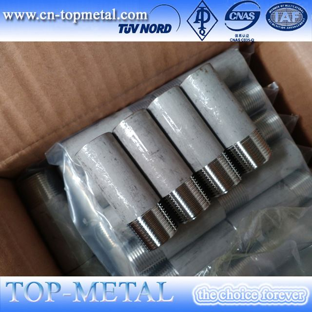 1/8 304 316 stainless steel selang nipple threaded