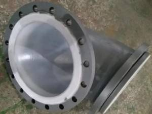 PTFE Lined 90deg Elbow with Fixed Flange or Losse Flange