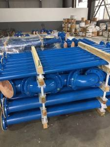 PTFE Lined Pipe with fixed or rotation flange