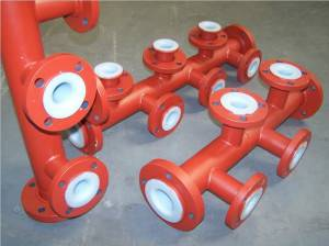 PTFE lined steel pipe anticorosive pipe