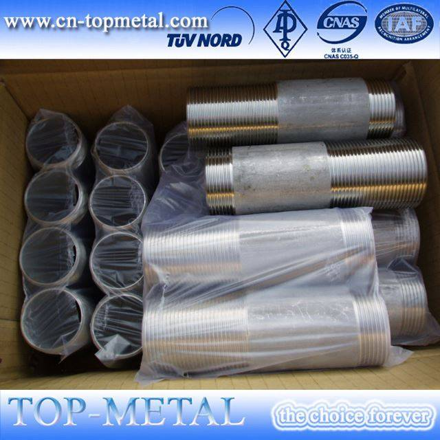 awét bikang stainless steel selang threaded nipple pipe pas