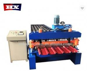Roof color steel tile cold roll forming machine
