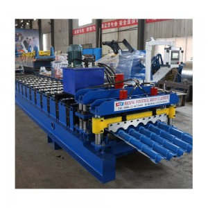 Glazed Panel Small Ordinary Roof Tile Moulding Machine