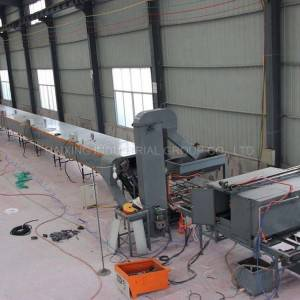 Stone coated metal roof manufacturing machine