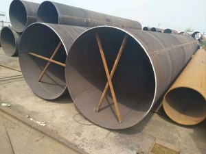 Large diameter thin wall straight seam welded pipe