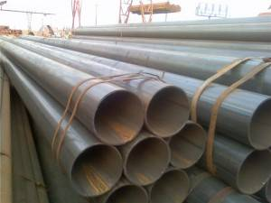 Straight seam welded steel pipe