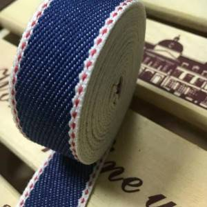 5cm denim blue elastic webbing ribbon