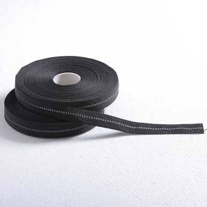China Cheap price China 100% Polyester Gold Zipper Printing Design Woven Webbing Tape