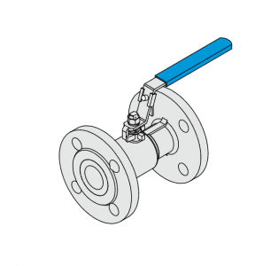 1-PC BALL VALVE FLANGE END FULL PORT