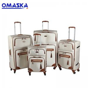 OMASKA Wholesale soft nylon trolley luggage sui...