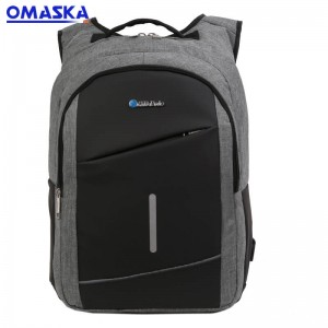 Canton Fair OMASKA waterproof business men usb laptop nylon fabric backpack