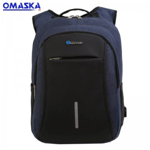 Canton Fair OMASKA OEM ODM  business waterproof  men usb port oxford school backpack