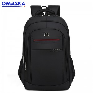 2020 Online Canton Fair OMASKA waterproof business oxford black school leisure laptop backpacks