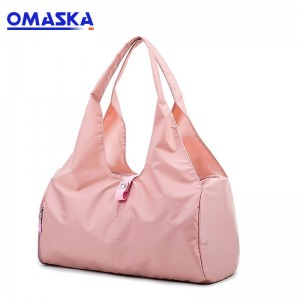 Gym Sport Bag With Shoe Compartment Lady Duffle Tote Yoga Bag