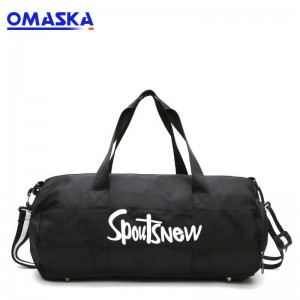 Gym duffle bags with shoe compartment